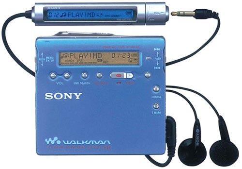 Sony MZ-R900/L tragbarer MiniDisc-Rekorder blau