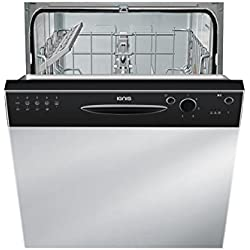 Ignis GBE 1B19 B Semi built-in 13place settings A+ dishwasher - dishwashers (Semi built-in, Stainless steel,Not applicable, Full size (60 cm), Black, Buttons, Rotary, 1.3 m)