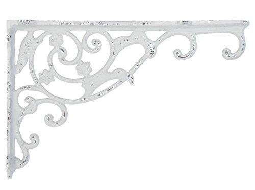 Clayre & Eef 6Y1763W Wanddeko Wandverzierung weiß ca. 32 x 4 x 21 cm
