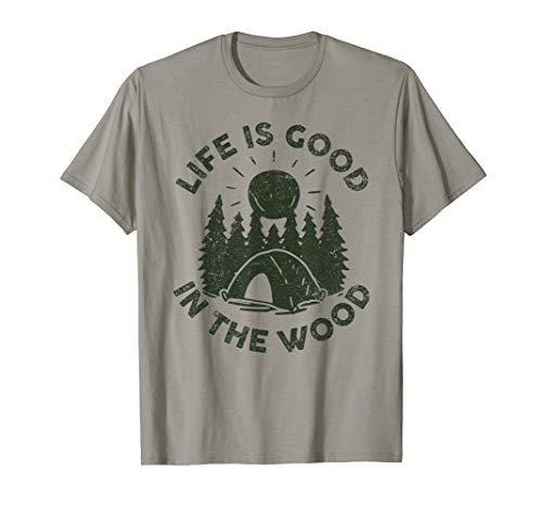 Life Is Good In the Wood Happy Camper T Shirt Kids Men Women