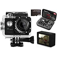 Lintern Pro action camera bundle | HD sports camera memory card carry case package | Get started immediately