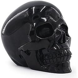 Deyue - Realista tallada en obsidiana natural de 2,48 lb, curación de energía Reiki