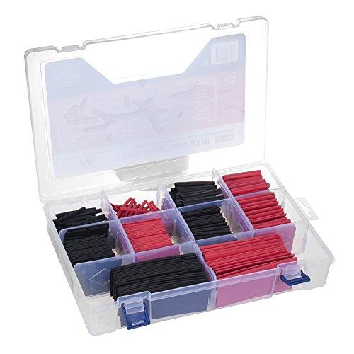 Maclean - MCTV-530 juego de tubos termoretráctiles 520 piezas en dos colores y diferentes tamaños