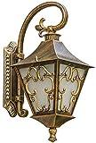 Klassische geschnitzte Bronze Im freien Wandleuchte Antike Retro Glas-Garten-Pavillon Säule der Wand befestigten Sicherheitsbeleuchtung Verandatür Pfosten Terrasse Laterne yppss (Size : B)