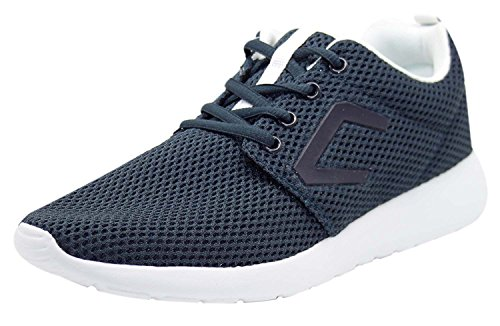 Mens New Crosshatch Designer Mesh Sneakers Lace Up Shoes Low Top Casual Trainers Total Eclipse