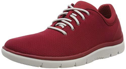 Clarks Tunsil Ace, Zapatillas para Hombre, Rojo (Red-), 44 EU