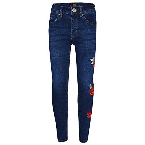 A2Z 4 Kids A2Z 4 Kids® Mädchen Dehnbar Jeans Kinder - Girls Jeans Embroidered 1 Blue. 5-6