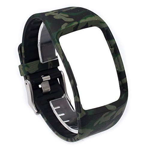 Greatfine Cinturino intercambiabile per Samsung Galaxy Gear S SM-R750 Cinturini di Ricambio braccialetto sostituzione band accessori (Camo3)