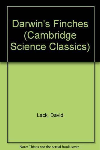 Darwin's Finches (Cambridge Science Classics) by David Lack (1983-01-28)