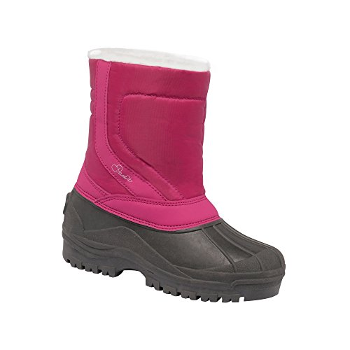 Dare 2b Boys Zeppa Junior Durable Water Repellent Snow Boots Berry Pink/Smokey