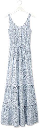 FIND Robe Longue à Petites Fleurs Femme Bleu (Blue)