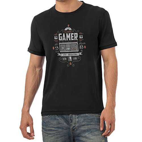 TEXLAB - The Classic Gamer - Herren T-Shirt Schwarz