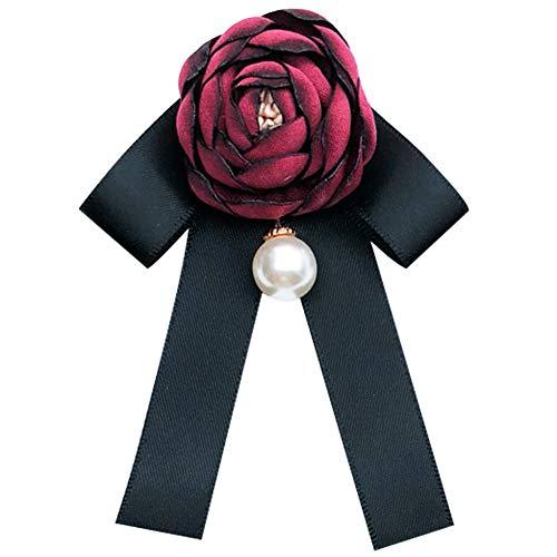 JUNGEN Schleifenbrosche Blumen Fliege Brosche Boutonniere für Kleidung Schmuck