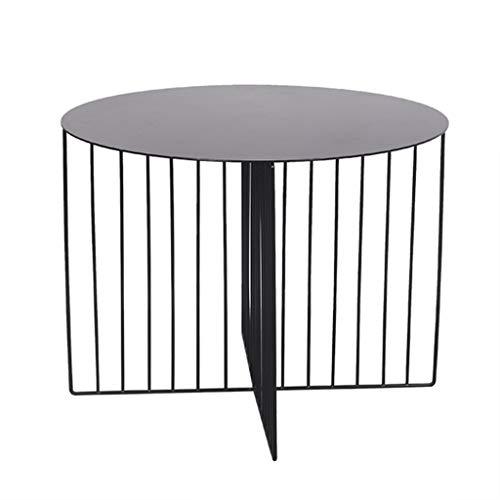 Xuping Tavolino Rotondo Divano da Salotto tavolino da Notte Comodino da Esterno Tavolo da Giardino