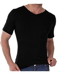 3er Pack Herren V-Neck T-Shirt Feinripp - Business T-Shirt - 100% gekämmte Baumwolle - versch. Farben und Größen S-3XL wählbar - Highest Standard - Einlaufvorbehandelt - original CELODORO Exclusive