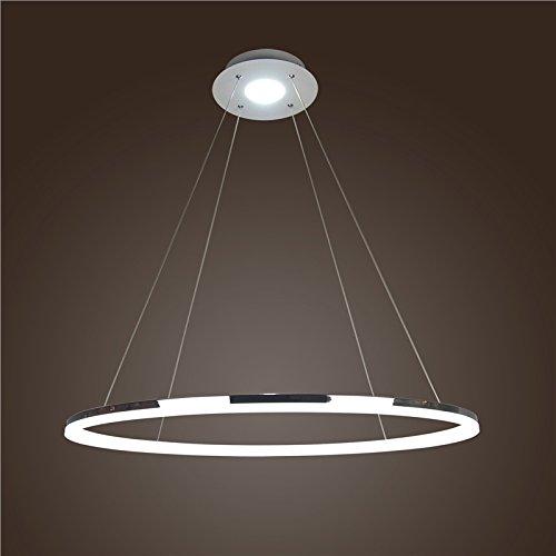 Homelava Led Durchmesser 60cm Pendelleuchte Modern Ring Design aus Polyester Esstischleuchte (Kaltweiß)