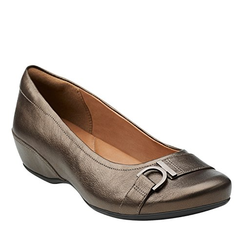 Clarks Concert Band Wedge Pump Brown