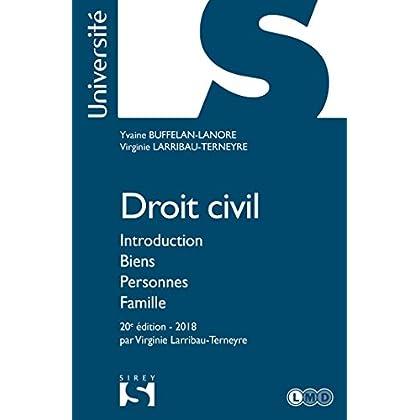Droit civil. Introduction Biens Personnes Famille - 20e éd.