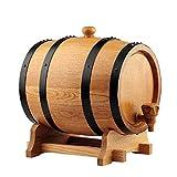 XAJGW Personalisierter amerikanischer Eichenwhisky-Alterungsfass graviertes Fass aus Reserve Outlaw Gear - Made by - (Eiche Natur, Schwarze Reifen, 15 Liter) (Farbe : Style B)
