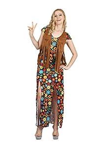 Bristol Novelty AF094 - Vestido hippy para mujer, multicolor, talla única