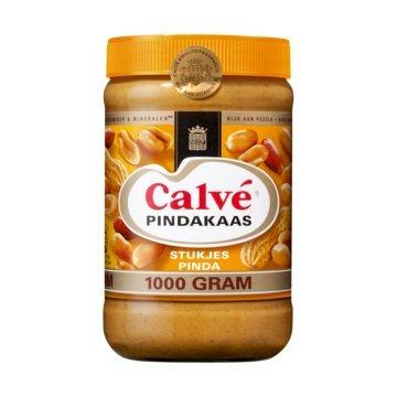 Burro di arachidi di Calvé - pindakaas con pezzi di arachidi dall'Olanda - vaso 35.2 once (1000 g