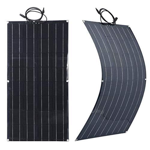 SWEEPID Schwarz Solarpanel 50/60/80/100W 18V Solarmodul Solarzelle Photovoltaik Solarladegerät Solaranlage Flexibel für Outdoor Wohnmobil, Auto