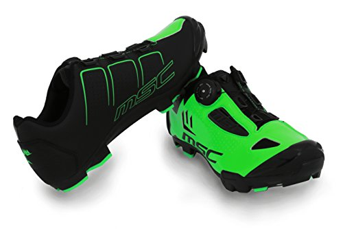MSC Bikes Aero XC Zapatillas Ciclismo, Verde, T-46