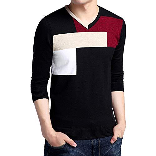 Herren Strickpullover,TWBB Winter Streifen Pullover Mantel Outwear Lange Ärmel Sweatjacke Hemd