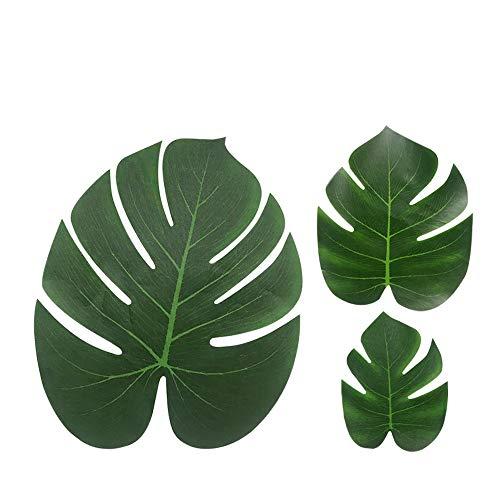 Tropical Palm Blätter Luau Party Supplies-Nachahmung Plant Leaf-Jungle Hawaii Sommer Strand Tischdekorationen