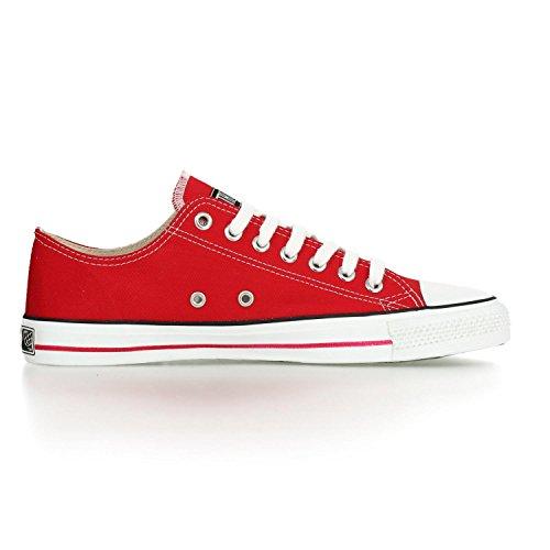 Ethletic Sneaker LoCut – rot / weiß aus Bio-Baumwolle, vegan & fair trade - 5