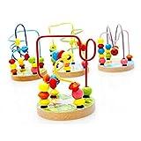 Tery Suministros de la Vida Cotidiana 1 Pc Contando Círculos Abalorio Ábaco Alambre Roller Coaster Juguete Matemático de Madera Juguete Educativo