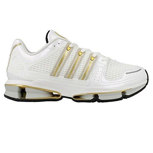 adidas Herren A3 Twinstrike Sneaker Mehrfarbig (Footwear White/Gold Metallic/Matte Silver)