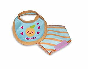 Nenuco - Pack de Braguitas y Babero Diseño Azul y Naranja (Famosa 700013433)