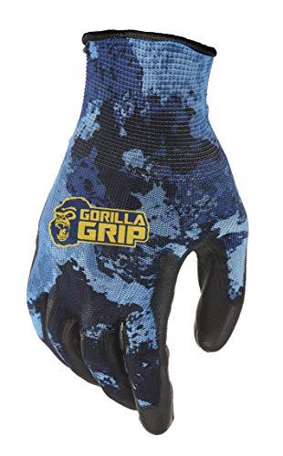 Gorilla Grip Arbeitshandschuhe mit Griff, Veil Aqueous, Allzweck-Handschuhe für Angeln, Outdoor-Arbeit und Automobilarbeit