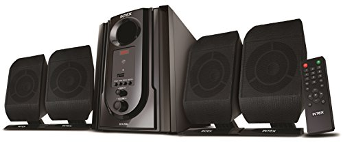 Intex IT-301 FMUB 4.1 Wooden Subwoofer Multimedia Speaker with Bluetooth/USB/FM/AUX(Black)