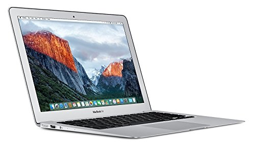 Apple MacBook Air MMGF2B/A 13.3-Inch Laptop (Silver) - (Intel Core i5 1.6 GHz, 8 GB RAM, 128 GB SSD, Intel HD Graphics 6000, OS X El Capitan) - 2016 - UK Keyboard