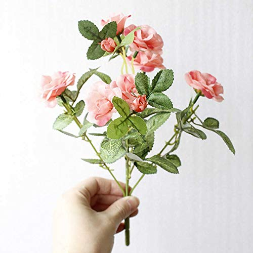 Artificial Dried Flowers - Valentine 39 S Day European Artificial Flower 5 Heads Silk Flowers Fake Rose Christmas Wedding - Holiday Free Green Bank Rudolf Hang Christmas Silver Dwarf Mas