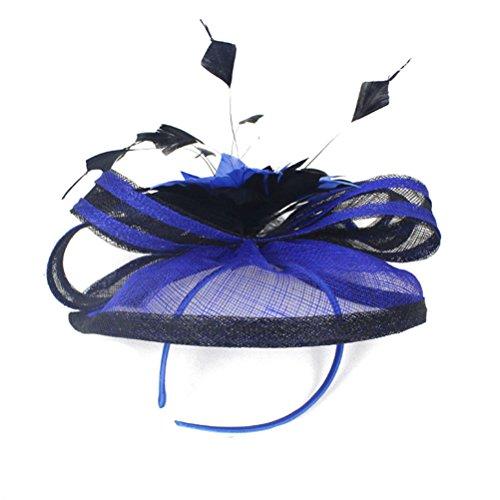 Jelinda Damen Sinamay Feder Blume Haar Fascinator Cocktail Hut Kopfschmuck