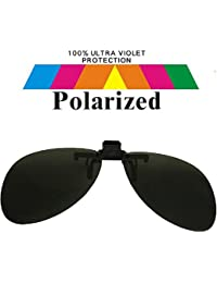 Round Clip On Black Lens Polarized Sunglasses Lrg co11