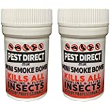 2 x Professional Strength Flea Insect Killer Smoke Bomb Fogger - Pet Dog Cat Fleas Home