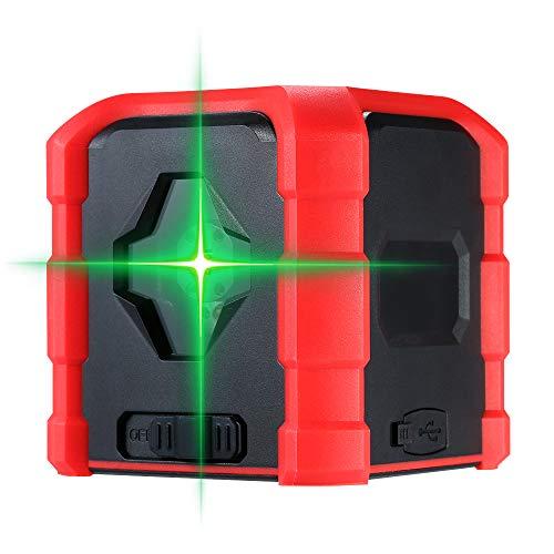 Walmeck Professioneller Laser-Wasserwaagen Kreuzlinienlaser Mini 2-Linien Laser Level Selbstnivellierendes Horizontales Vertikales Querlinien-Nivellierungskit Horizontale Linien