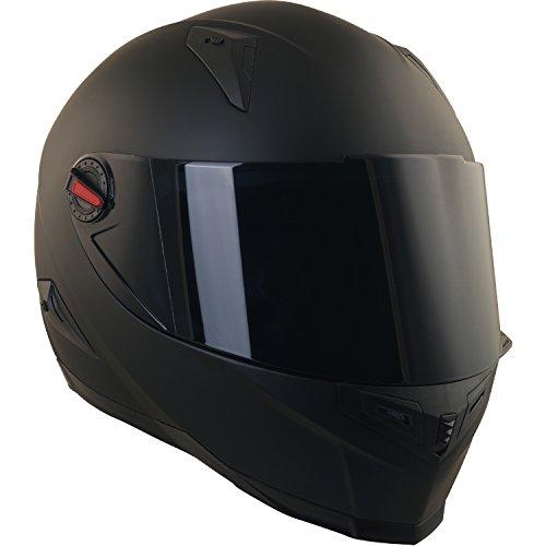 Broken Head BeProud Helm | Motorradhelm Set inkl. Schwarzem Visier - Integralhelm - Karthelm - Nakedbike schwarz-matt S (55-56 cm) - 3