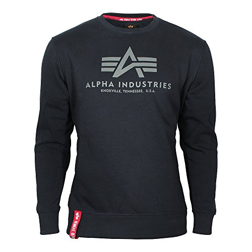 ALPHA INDUSTRIES Herren 178302 07 Sweatshirt, Bleu Fonce, Large