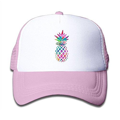 Pineapple Rainbow Boy-Girls Adjustable Mesh Baseball Cap Kids Trucker Hat