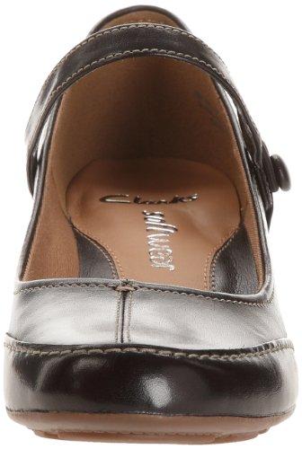 Clarks, Scarpe col tacco donna nero (Noir (Black Leather))