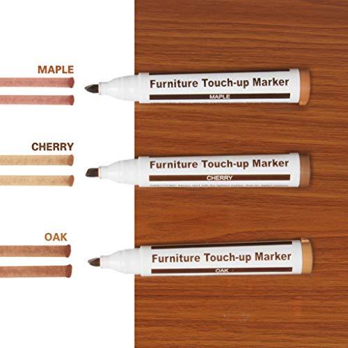 VNEIRW 3 STK Reparaturstifte Set Marker Stift Reparatur Fix Möbelkorrekturstift für zerkratzte Holzböden, Möbel, Tische, Wand. (A) -
