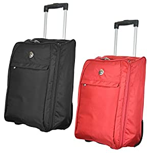 New Super Lightweight Hand Luggage Wheeled Trolley Airline Cabin Flight Zip Bag Carry On Suitcase Airport Flight Holiday Travel by Sabar