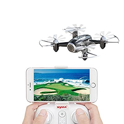 Syma FPV RC Drone Mini Drone X22W Nano Quad Copter WiFi FPV Pocket Drone HD Camera RTF Mode 4 Channel Headless Mode Remote Control Altitude Hold Quadcopter