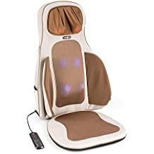 Klarfit Vanuato funda de asiento multifunción Shiatsu 3D (12 V DC, 3 intensidades, tratamiento calor, estimulación sanguínea, vibración, sistema de masaje a presión) - beige