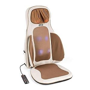 Klarfit Vanuato Shiatsu-Massagestuhl für Rücken/Nacken – schwarz oder beige